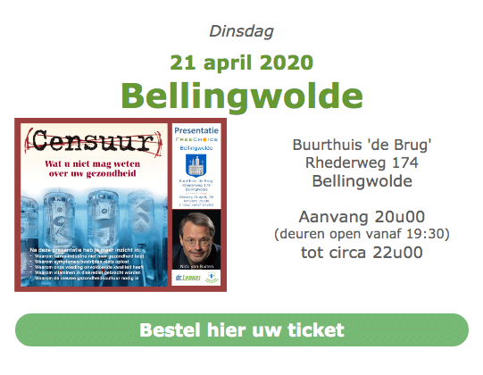 Lezing Censuur - Dinsdag 21 april 2020 Bellingwolde